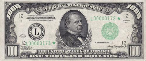 $1000 in 1934