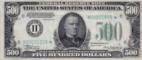 $500 in 1934